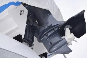 78' Hatteras Cockpit Motoryacht 1989 Tender Outboard Detail