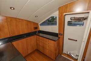82' Monte Fino Widebody Skylounge 2001 Galley Starboard Side