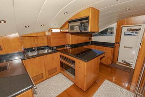 82' Monte Fino Widebody Skylounge 2001 Galley Looking Forward