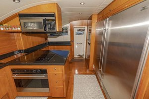 82' Monte Fino Widebody Skylounge 2001 Galley Looking Starboard