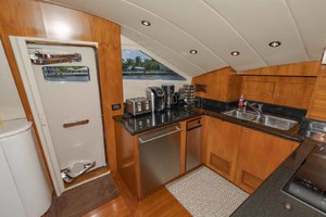 82' Monte Fino Widebody Skylounge 2001 Galley Portside Access Door
