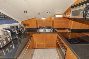 82' Monte Fino Widebody Skylounge 2001 Galley Portside