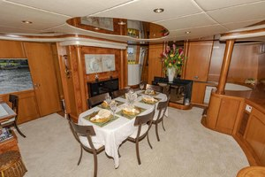 82' Monte Fino Widebody Skylounge 2001 Dining Area Looking to Port
