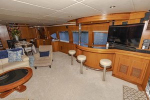 82' Monte Fino Widebody Skylounge 2001 Salon to Starboard