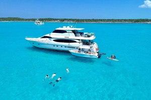 82' Monte Fino Widebody Skylounge 2001 Bahamas