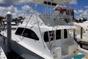 46' Post 46 Convertible 1996 Profile at Dock