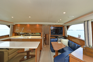 56' Viking 56 Convertible 2004 Galley/ Dinette
