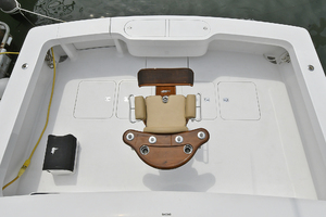 56' Viking 56 Convertible With Mezzanine 2004 Cockpit View from Flybridge