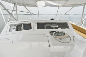 56' Viking 56 Convertible With Mezzanine 2004 Helm Station
