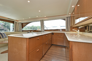 56' Viking 56 Convertible With Mezzanine 2004 Galley
