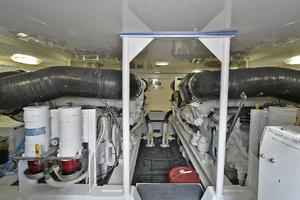 56' Viking 56 Convertible With Mezzanine 2004 Engine Room