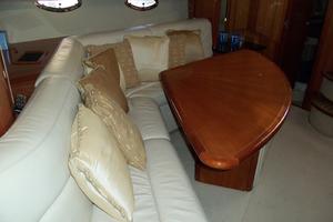 53' Sunseeker Portofino 53 2006 Salon settee looking aft