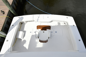 48' Viking 48 Convertible  2003 Cockpit View from Flybridge