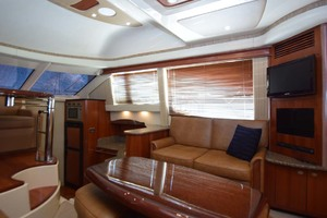 44' Sea Ray 44 Sedan Bridge 2006 STBD Side Couch And Galley Down View