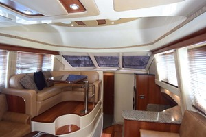 44' Sea Ray 44 Sedan Bridge 2006 View From STBD Side Couch To Galley And Settee
