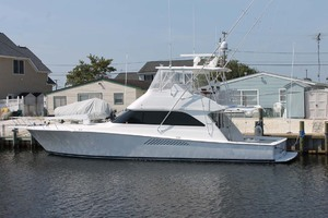 52' Viking 52 Convertible 2002 StarboardSideAtDock