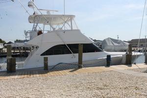 52' Viking 52 Convertible 2002 Port Side At Dock