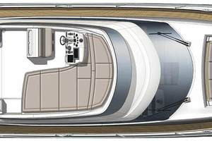 56' Prestige 56 Flybridge  2017 Flybridge Layout
