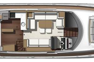 56' Prestige 56 Flybridge  2017 Main Deck Layout