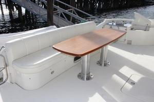 65' Marquis 65 Motor Yacht Skylounge 2006 High Gloss Cherrywood Cockpit Table