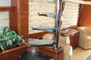 65' Marquis 65 Motor Yacht Skylounge 2006 Spiral Staircase to Bridge