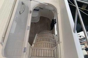 46' Viking 46 Flybridge Yacht 1999 Teak steps to bridge