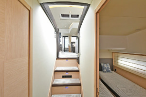 50' Prestige 500 Flybridge 2017 Companionway to Staterooms