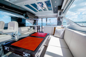 60' Cruisers Yachts 60 Cantius 2017 Upper salon looking aft 2