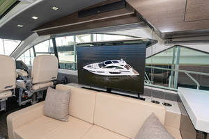 60' Cruisers Yachts 60 Cantius 2017 TV in the salon