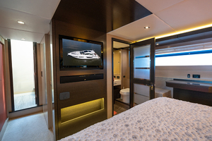60' Cruisers Yachts 60 Cantius 2017 Entertainment center in the master stateroom