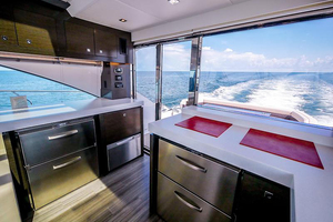 60' Cruisers Yachts 60 Cantius 2017 Galley looking STBD aft