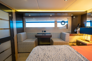 60' Cruisers Yachts 60 Cantius 2017 Seats and table in the master stateroom