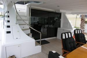 82' Horizon Flybridge Motor Yacht 2001 Aft Deck Steps to Bridge
