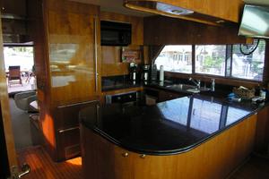 82' Horizon Flybridge Motor Yacht 2001 Galley Looking Aft