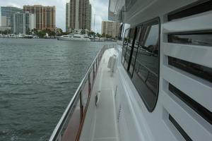 82' Horizon Flybridge Motor Yacht 2001 Port Side Deck