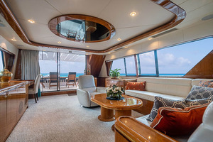 82' Horizon Flybridge Motor Yacht 2001 Salon Looking Aft