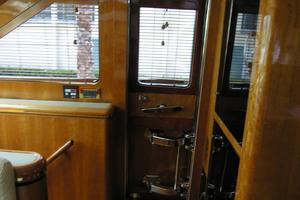 82' Horizon Flybridge Motor Yacht 2001 Starboard Galley Door