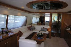 82' Horizon Flybridge Motor Yacht 2001 Port Side Salon Looking Forward