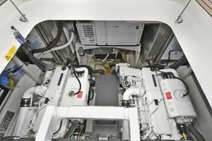 55' Prestige 550 Flybridge 2016 Engine Room