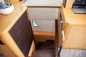 55' Prestige 550 Flybridge 2014 Entry to Master Suite