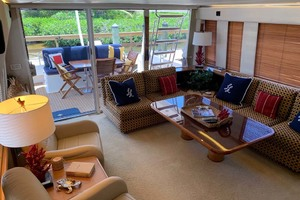 65' Pacific Mariner 65s 2000 Port View Salon Looking Aft