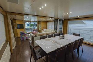 108' Benetti Tradition Supreme 108 2015 Dining Salon Looking Aft