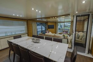 108' Benetti Tradition Supreme 108 2015 Dining Salon Looking Aft With Elevator To Port