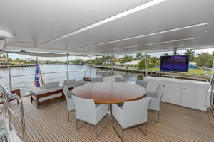108' Benetti Tradition Supreme 108 2015 Skylounge Deck Looking Aft