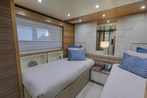 108' Alloy Yachts  1992 Portside Guest Cabin Looking Aft