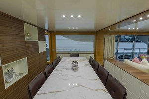 108' Benetti Tradition Supreme 108 2015 Dining Salon Looking To Starboard