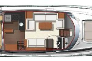 50' Prestige 500 Flybridge 2014 Deck Layout