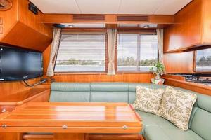 47' Grand Banks  2008 Port Couch And TV