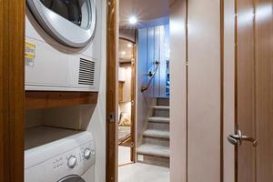 64' Viking Sportfish 2007 Washer and Dryer in Companionway