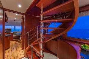 88' Cheoy Lee  2007 Staircase To Flybridge And Main Guest Quarters